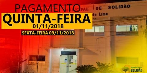 Prefeito Djalma Alves confirma pagamento de outubro de 2018