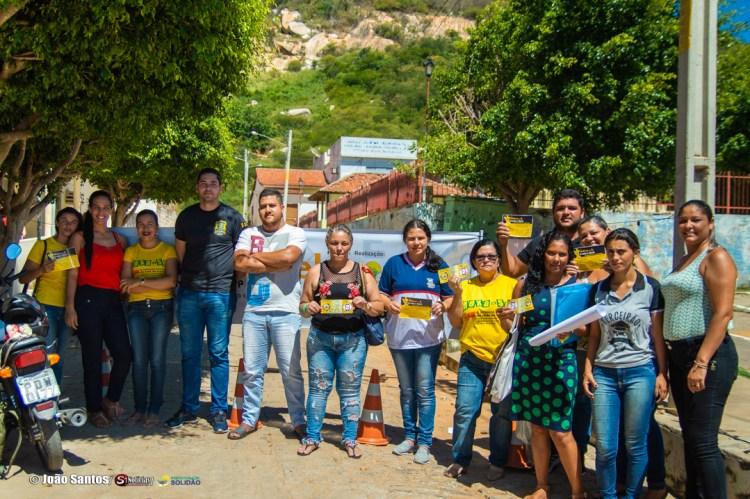 Campanha educativa realizada pelo Conselho Tutelar de Solidão – Foto: João Santos/ S1 Notícias
