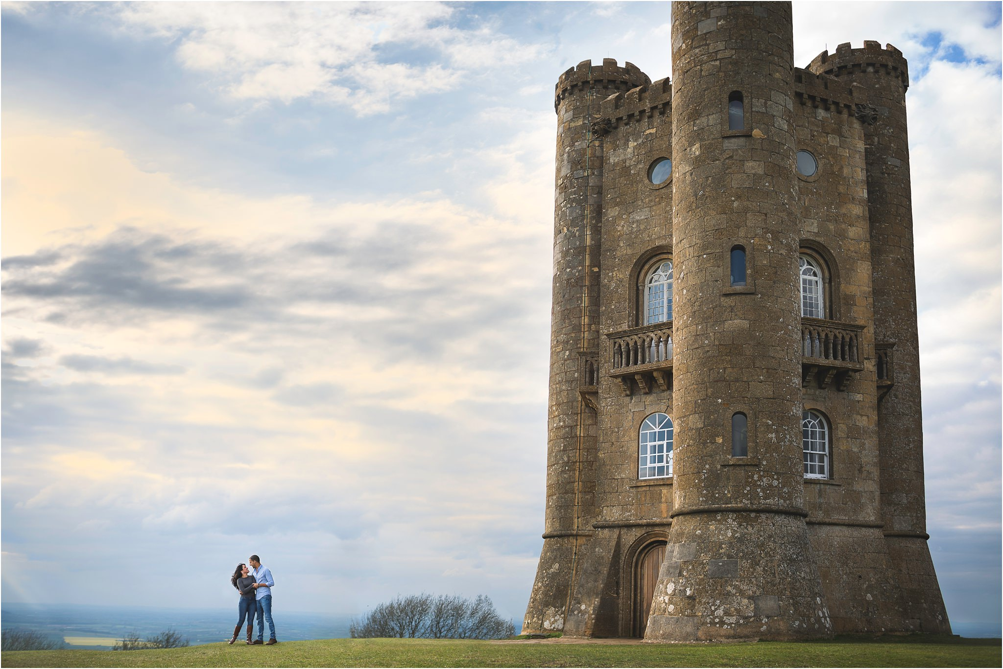 Worcestershire Pre Wedding Shoot at Broadway Tower  S2