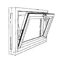 Window Hopper Basement 32X18In Duo-Corp 3218Comp 715493180817