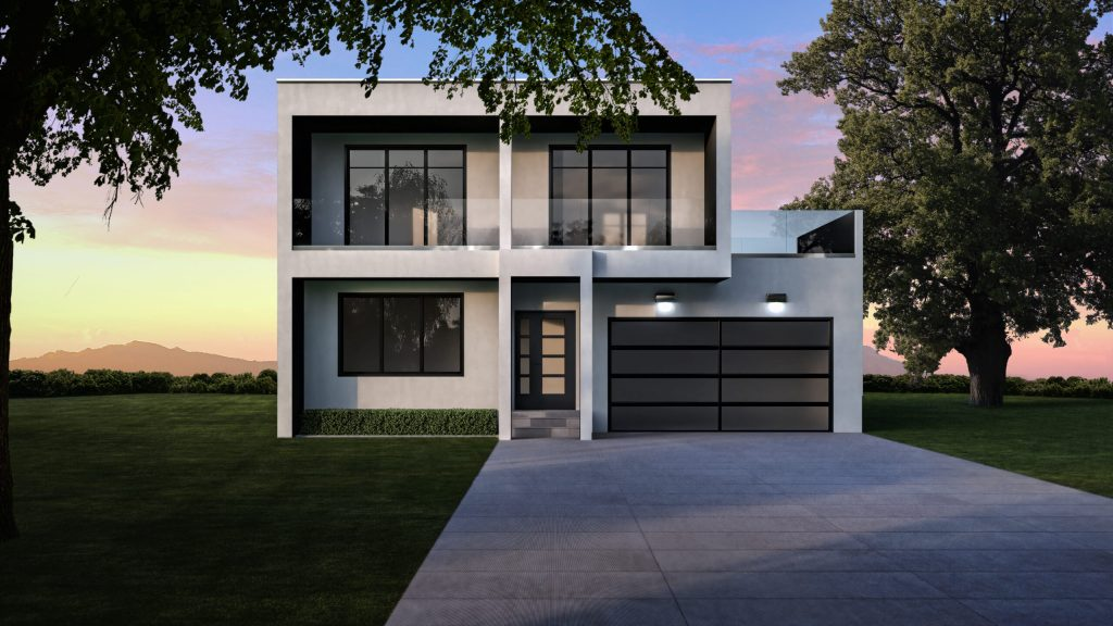 Model 10 - 2,825 sq. ft. 2 Story – 4 Bedroom, 2 ½ Bath, Private Mast. retreat w/ covered porch - Modern