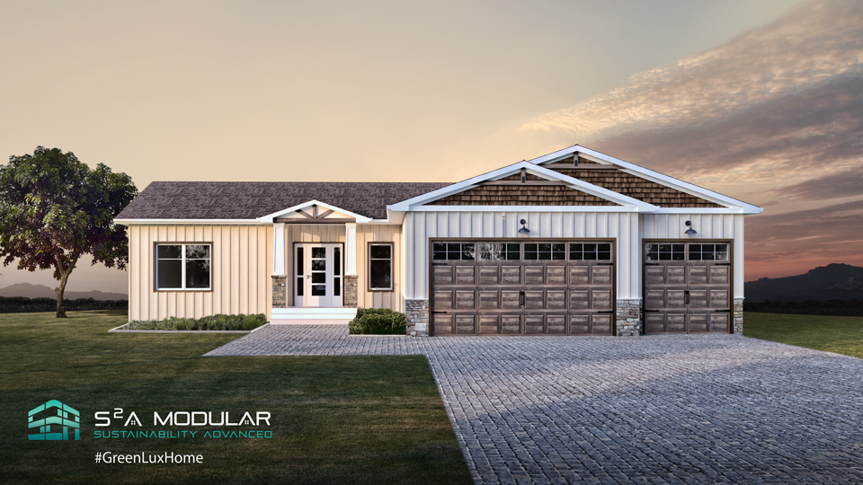 Model 15 – 1,737 sq. ft. Ranch – 3 Bedroom, 2 Bath, open concept – Craftsman