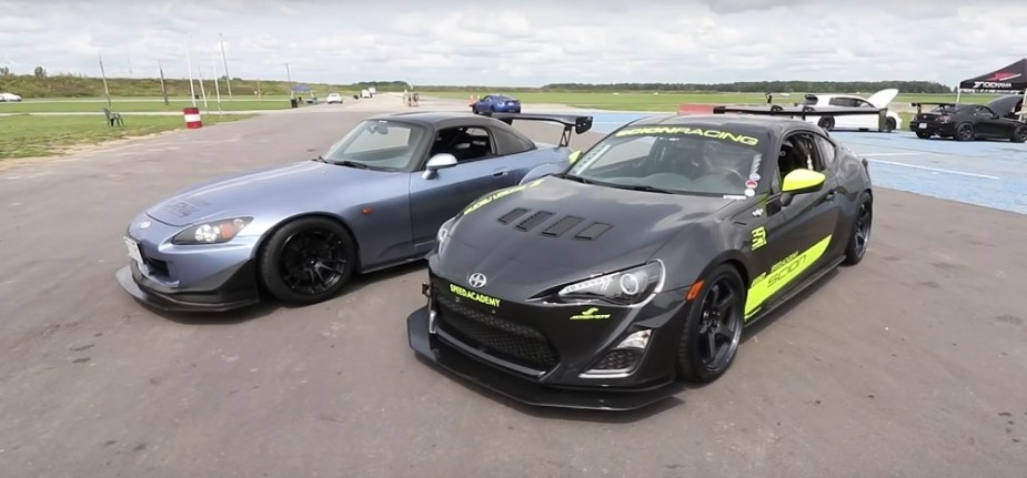 Modified Honda S2000 vs. Scion FR-S Toyota 86 Subaru BRZ Track Battle S2KI.com