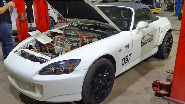 Honda S2000 with a Tesla Motor