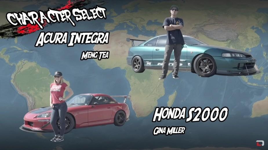 Driving Line Driver Battle Honda S2000 vs. Acura Integra