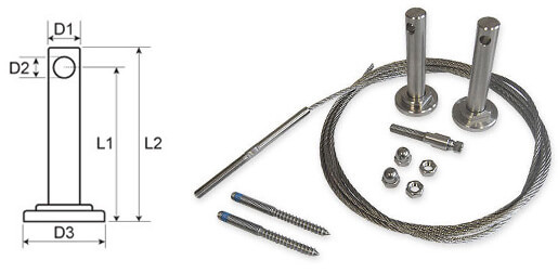 7.5 Metre Tensioned Stainless Steel Wire Trellis Kit for