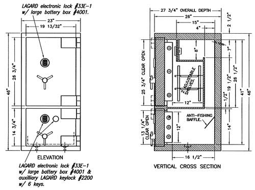 Custom TL-30 Safe w/o Label CS-M411817A-L30