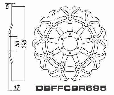 Front Brake Disc Honda CBR400RR Tri-Arm NC23 1988-1989 88