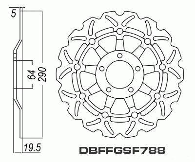 Front Brake Disc Suzuki RGV250 RGV 250 VJ21 1988-1990 88