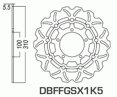 Front Brake Disc Suzuki GSX-R600 GSXR600 2006-2007 06-07