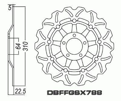 Front Brake Disc Suzuki GSXR750 GSXR 750 1994-1995 94-95