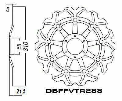 Front Brake Disc Honda CBR250 R CBR250R MC19 1988-1989 88