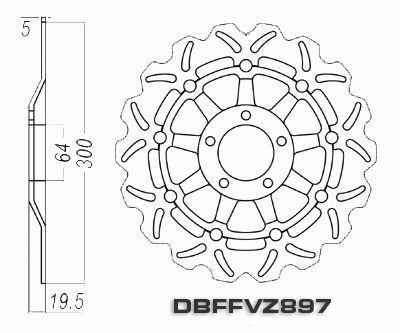 Front Brake Disc Motorcycle Suzuki RGV250 VJ22 RGV 250