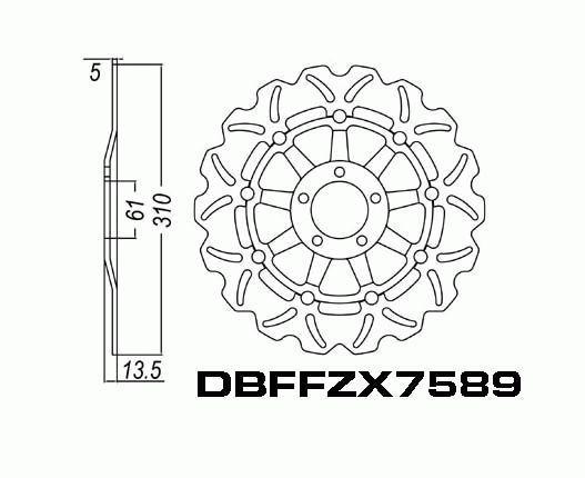 Front Brake Disc Kawasaki ZX1100 ZZR1100 1990-1993 90-93