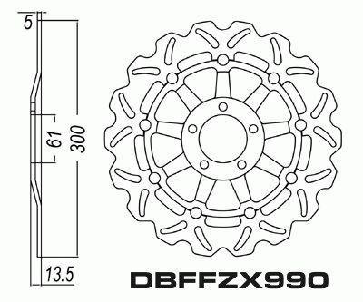 Front Brake Disc Motorcycle Kawasaki ZX900 GPZ900 R Ninja