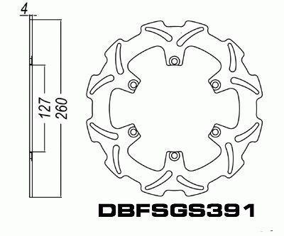 Front Brake Disc Motorcycle KTM 250SX 250 SX 1993-2013 93
