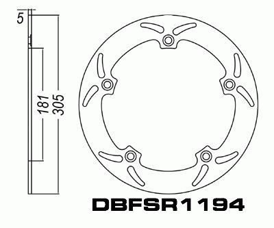 Front Brake Disc BMW R 850R R850 (Cast/ABS) 1994-2002 94