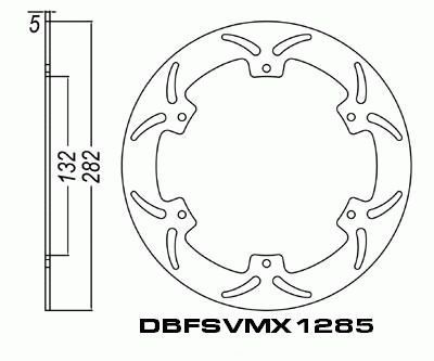 Front Brake Disc Yamaha XP500 T-Max 2001, 2002, 2003 01-03