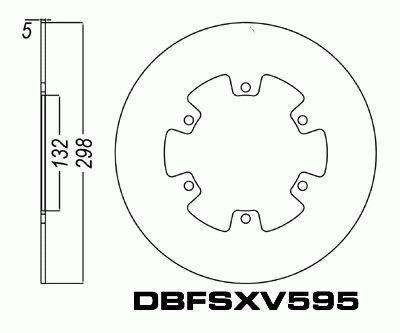 Front Brake Disc Yamaha XVS650 V-Star Custom 1997-2013 97