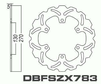 Rear Brake Disc Kawasaki ZX900 GPZ900R Ninja 1984-1989 84