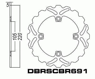 Rear Brake Disc Triumph T509 955cc Speed Trilpe 1999-2001