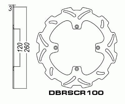 Front Brake Disc Husqvarna TE630 TE 630 2011-2012 11-12