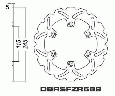 Rear Brake Disc Motorcycle Yamaha YZF750 R/SP YZF 750 1993