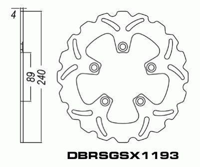 Rear Brake Disc Suzuki GSXR750 GSXR 750 1988-1993 88-93