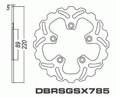 Rear Brake Disc Suzuki GSX-R600 GSXR600 2004-2005 04-05