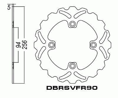 Rear Brake Disc Honda VFR750 F VFR750F VFR 1990-1993 90-93