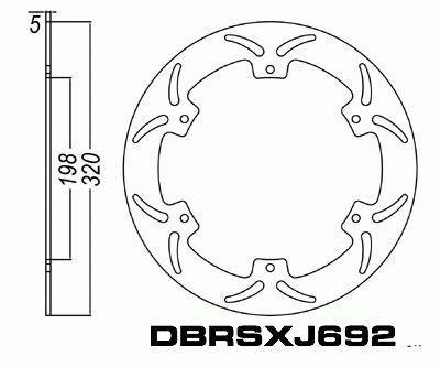 Front Brake Disc Yamaha XJ600 S Diversion 1992-1997 92-97