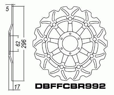 Front Brake Disc Honda VFR800 Interceptor VFR 800 98 99 00