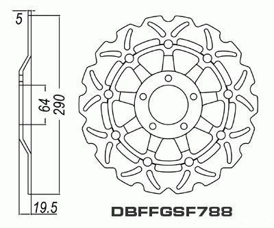 Front Brake Disc Suzuki RF600R RF600 RF 600 1993 1994 1995