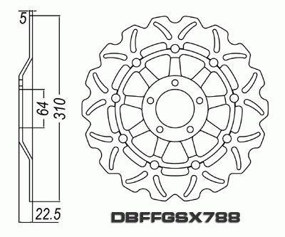 Front Brake Disc Suzuki GSXR1100 GSXR 1100 1989 1990 1991