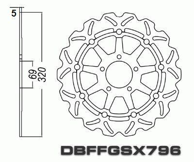 Front Brake Disc Suzuki GSXR1000 GSXR 1000 2001 2002 01 02