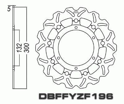 Front Brake Disc Yamaha YZF-R1 YZFR1 R1 1998 1999 2000