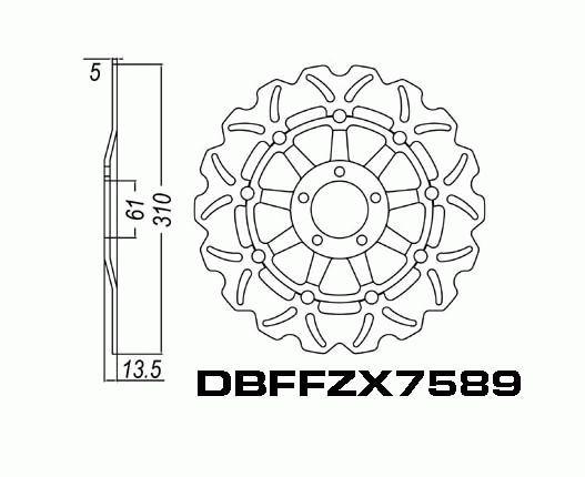 Front Brake Disc Kawasaki ZRX1100 1996 1997 1998 1999 2000