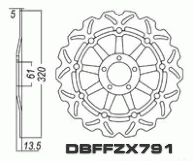 Stopp Disc Rotor Front Floating ZX7R ZX7RR ZX9 ZZR1100