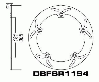 Disc Brake Rotor Front BMW R850 R1100 R1150 R1200 K1200