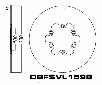 Front Brake Disc Rotor for Suzuki VL1500 Intruder 98-01
