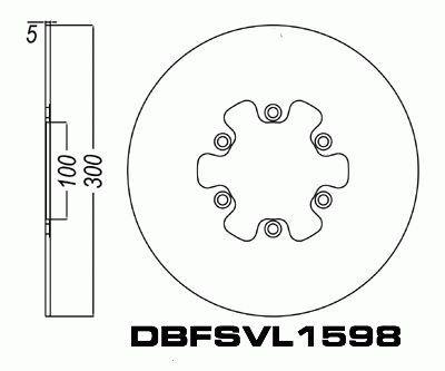 Front Brake Disc Rotor for Suzuki VL1500 Intruder 98-01