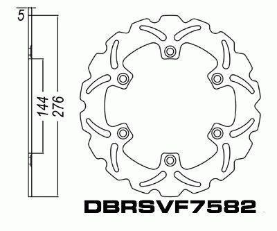 Disc Brake Rotor Honda CB1000 CBF250 CBR125 CBR500 FJS600