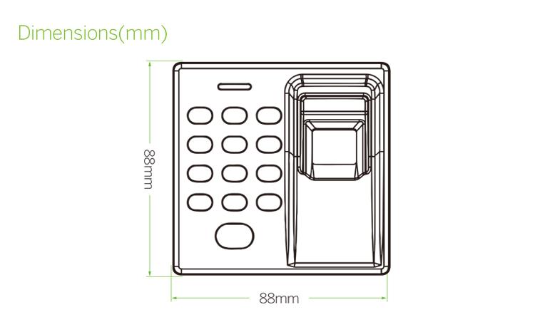 Fingerprint Access Control Device Door Lock With USB