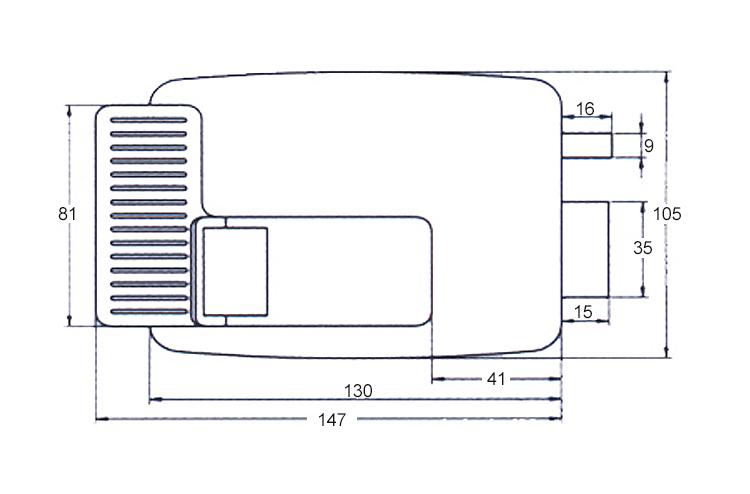 Home Door Gate Safety Vertical Keyway Cylinder Deadbolt