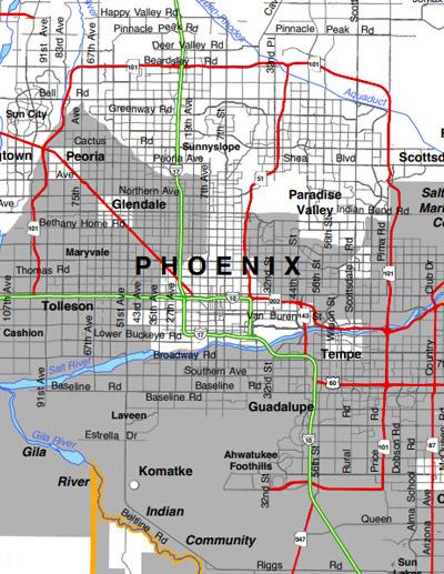 APS Service Territory Map: Phoenix Metro