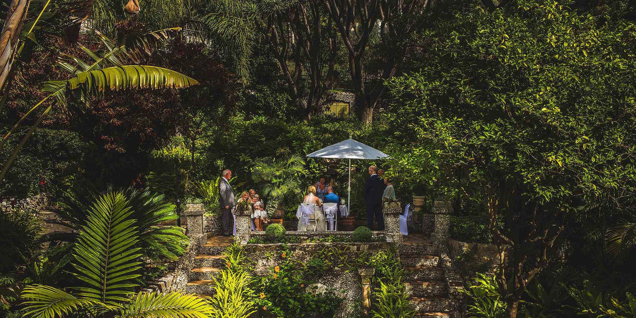 Botanical Gardens wedding Gibraltar
