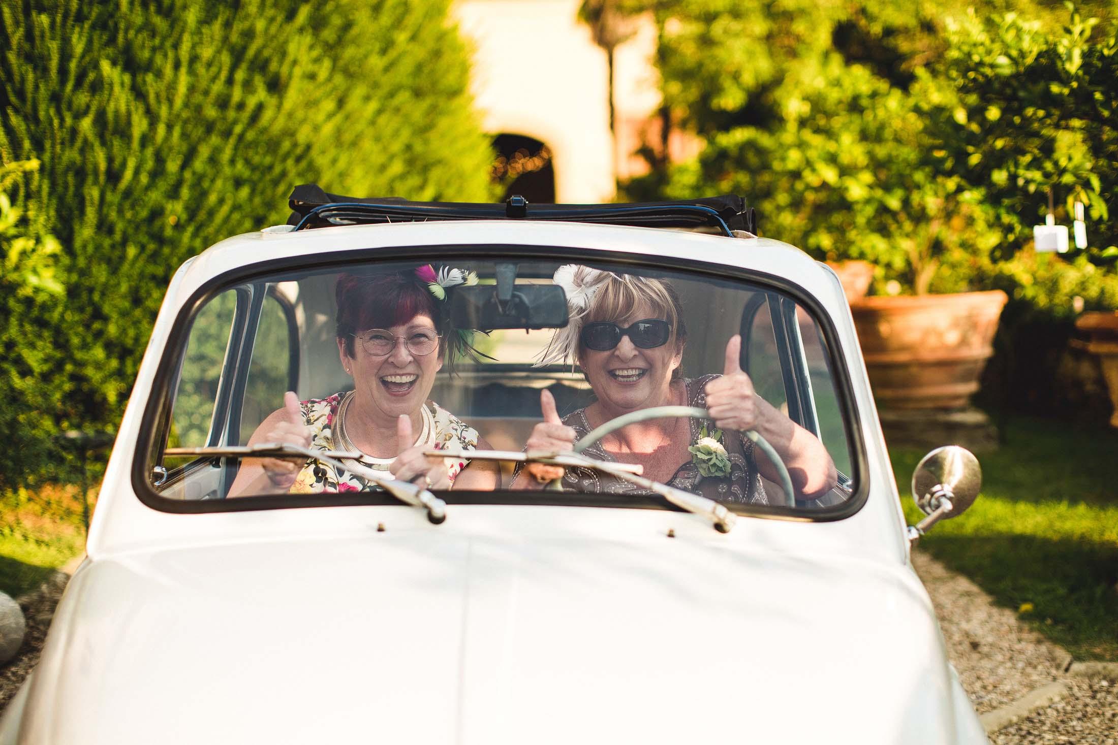 Fiat wedding car