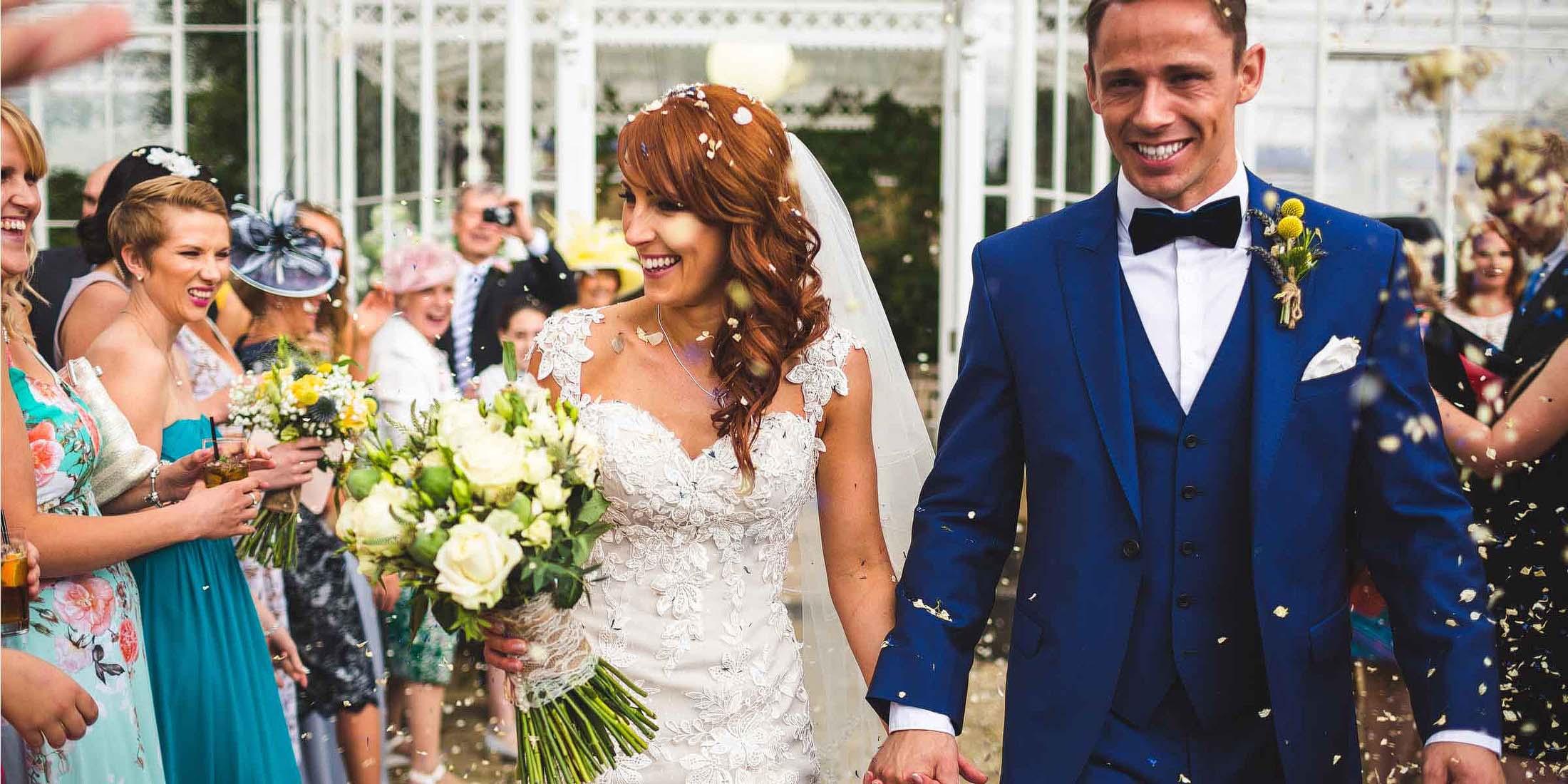 wedding at Wentworth Castle Gardens