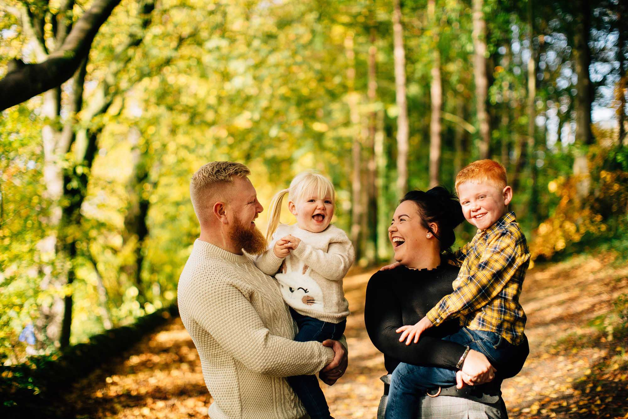 autumn family photography Sheffield