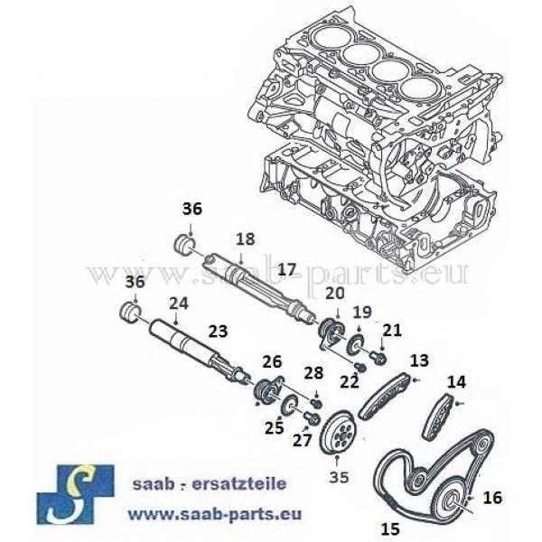 Ausgleichswellen: Saab parts 9000 ( 1985- 1998 )Motoren